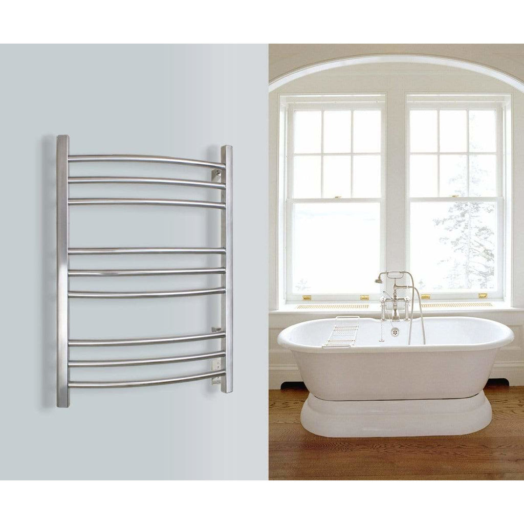 WarmlyYours Riviera 9 Bars Brushed Stainless Hardwired Towel Warmer TW-R09BS-HW