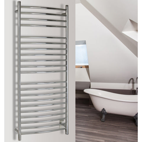 WarmlyYours Vida 21 Bars Polished Hardwired Towel Warmer TWS3-VID21PH