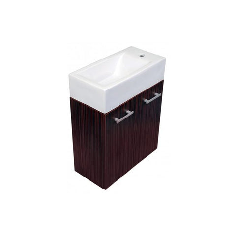 Whitehaus Wall Mount Double Door Vanity Bathroom Sink WH114LSCB-E