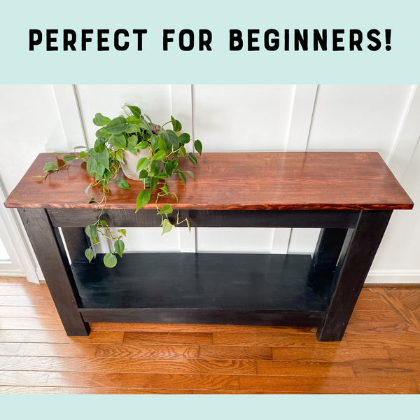 Simple Sofa Table Woodworking Plans
