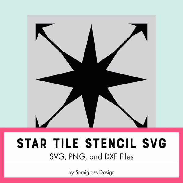 SVG for Star Tile Stencil