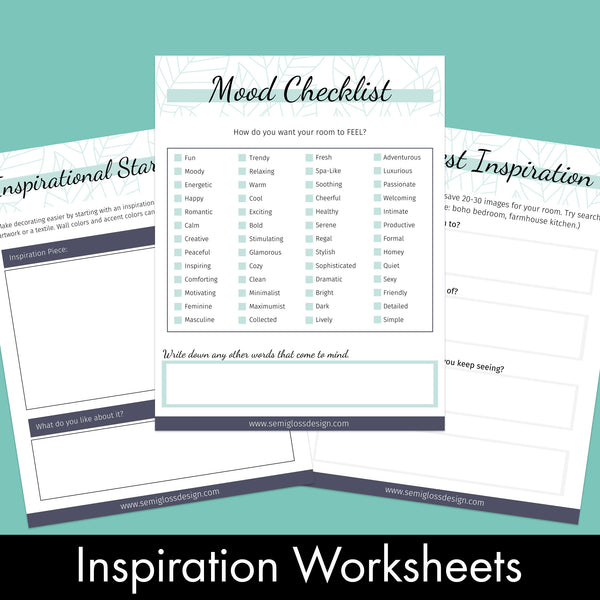 Room Planner Workbook - Special Offer for Subscribers