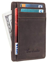 Load image into Gallery viewer, Leather Slim RFID Blocking Wallet