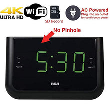 Load image into Gallery viewer, 4K Ultra HD Alarm Clock Radio WiFi Hidden Security Nanny Cam