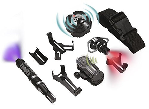 SpyX Micro Gear Set - 4 Must-Have Spy Tools Attached to an Adjustable Belt.