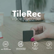 Load image into Gallery viewer, TileRec - Slimmest Voice Activated Recorder with 145 Hours Recording Capacity, MP3 Records, 24 Hours Battery Time, Metal Case – by Atto Digital