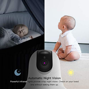 Video Baby Monitor with Remote Camera Pan-Tilt-Zoom