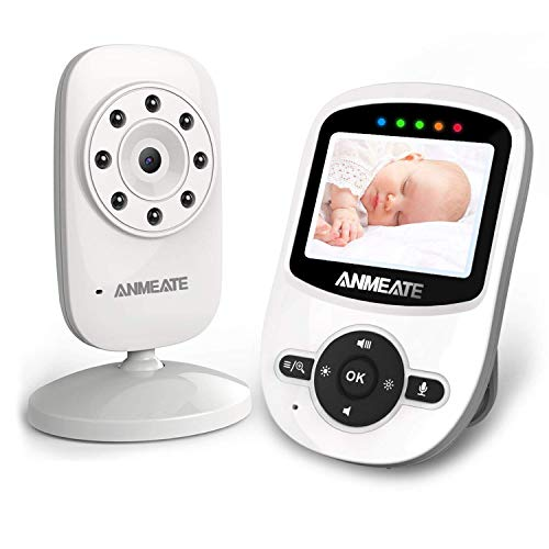 Video Baby Monitor with Digital Camera bwith Temperature Monitor, 960ft Transmission Range, 2-Way Talk, Night Vision