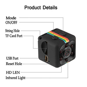 Mini Hidden Body Camera Video Recorder with Night Vision Motion Detection, Indoor and Outdoor