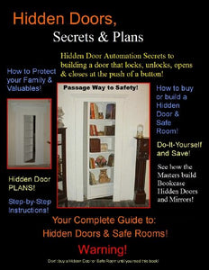 "Bookcase Hidden Doors ""Secrets & Plans"""