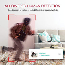 Load image into Gallery viewer, Indoor IP Security Surveillance System with Night Vision, AI Human Detection, Activity Zone, Phone/PC App, Cloud Service - Works with Alexa