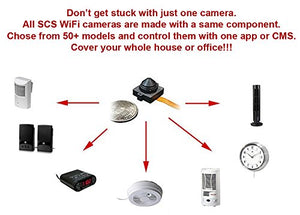 Spy Camera with WiFi Digital IP Signal, Recording & Remote Internet Access