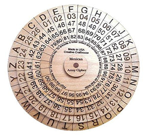 Mexican Army Cipher Wheel A Historical Decoder Ring Encryption Device Cryptex