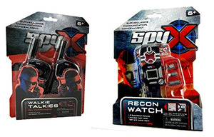 SpyX Walkie Talkies + Recon Watch - Double Agent Tool Set!