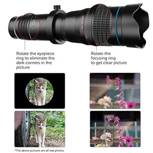 High Power 36x HD Telephoto Lens with Tripod for smart phones