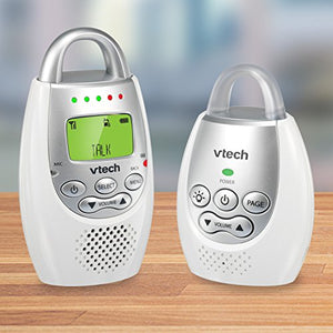 Baby Monitor with up to 1,000 ft of Range, Vibrating Sound-Alert, Talk Back Intercom & Night Light Loop