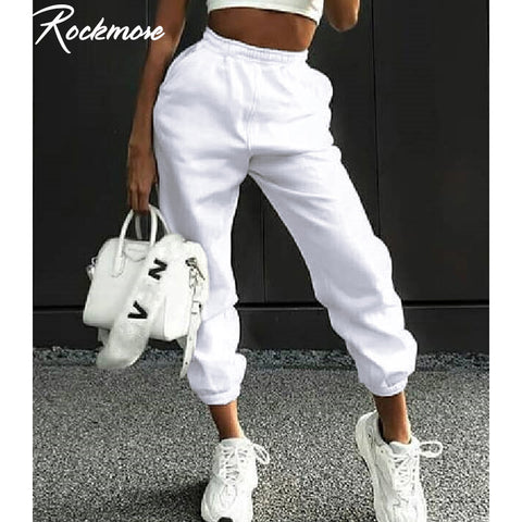 Joggers Wide Leg Sweat Pants / Women Trousers