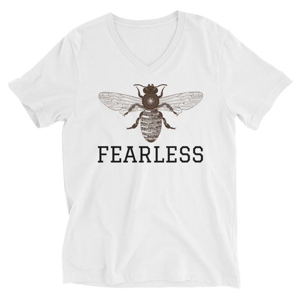 Bee FEARLESS Short Sleeve V-Neck T-Shirt