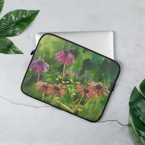 SALE Coneflower Garden Laptop Sleeve
