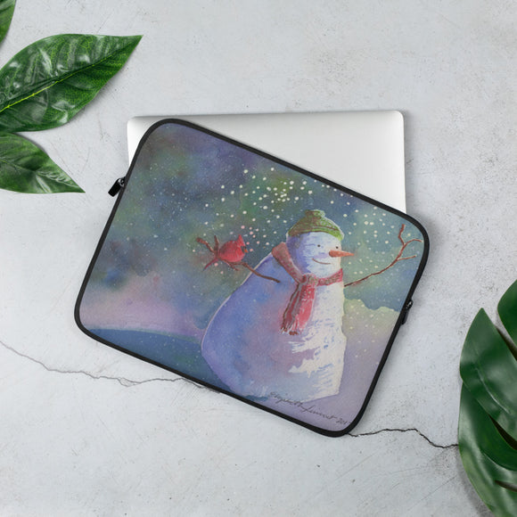Snowman's BFF Laptop Sleeve
