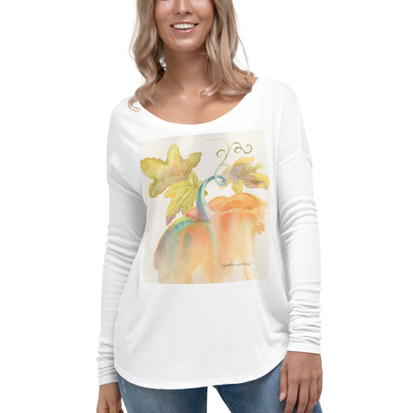 Pretty Pumpkin Ladies' Long Sleeve Tee