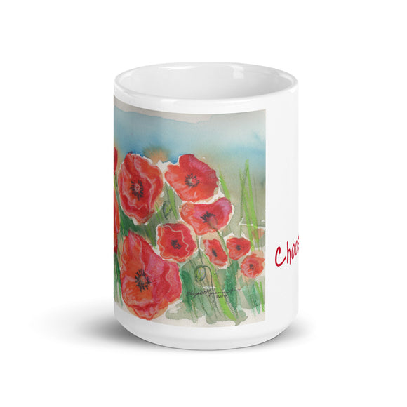 Choose Joy/Poppies in a Field Mug