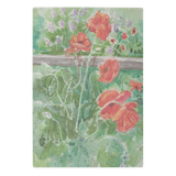 Poppies By Fence Cutting Board