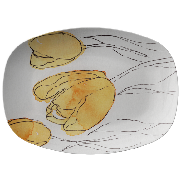 Yellow Tulip Platter