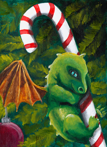 Baby Dragon Candy Cane