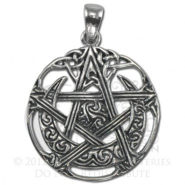 SS Cut Out Moon Pentacle
