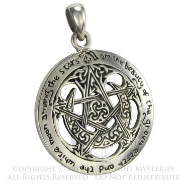 SS Large Cut Out Moon Pentacle
