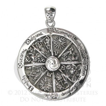 SS Wheel of the Year pendant