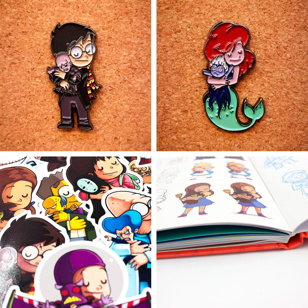 Pins, Stickers & Books