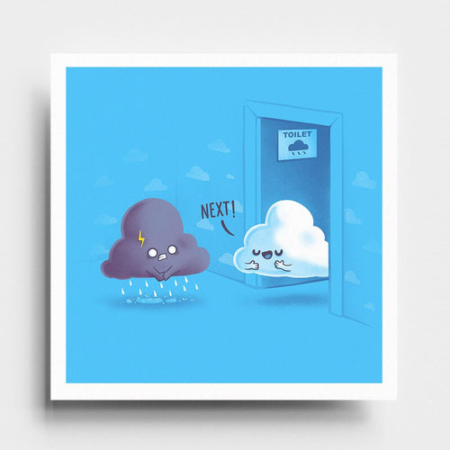 Rainy Queue - Art Print - Naolito