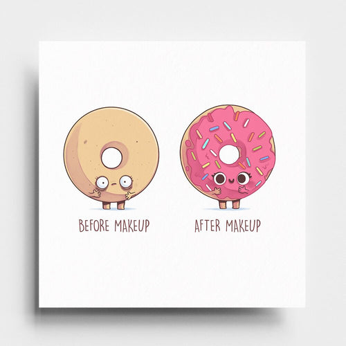 Before After Makeup Donut - Art Print - Naolito