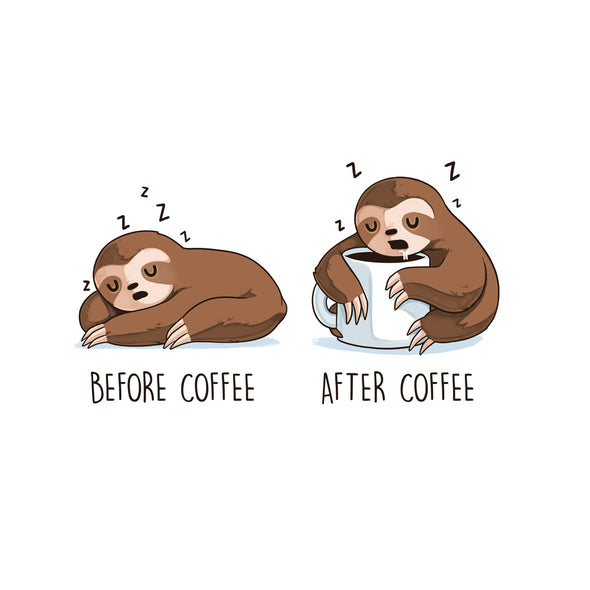 After Coffee Sloth - Magnet
