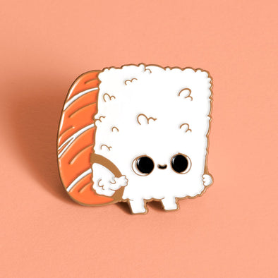 Before After Sushi back to school - Enamel Pin - Naolito