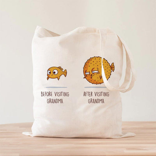 Before After Grandma Premium - Tote Bag - Naolito