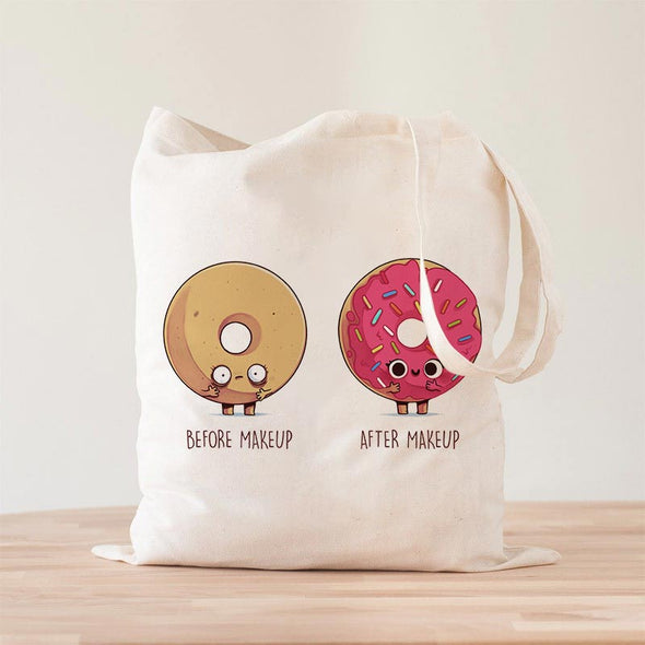 Before After Makeup Donut Premium- Tote Bag - Naolito