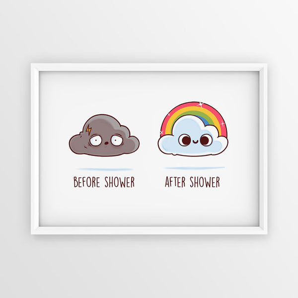 Before After Shower - Poster - Naolito