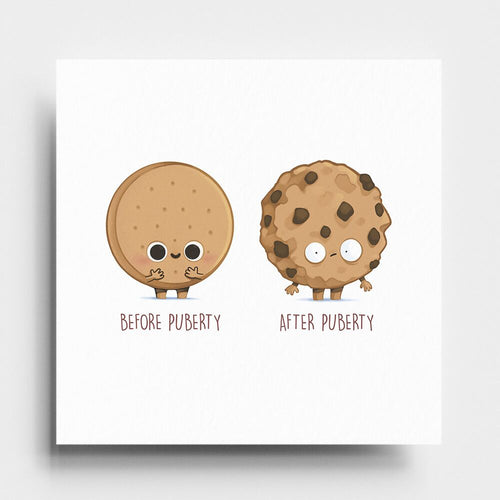 Before After Puberty - Art Print - Naolito