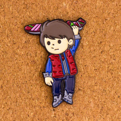 Hang on Time Traveler - Enamel Pin - Naolito