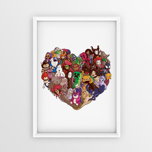 Heart Villains - Poster - Naolito