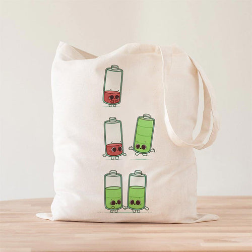 Low Battery - Tote Bag - Naolito