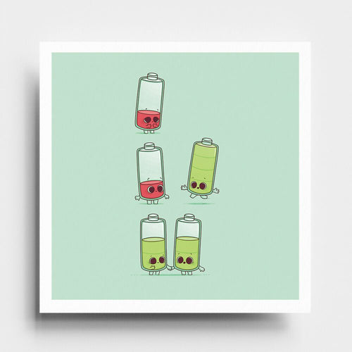 Low Battery - Art Print - Naolito