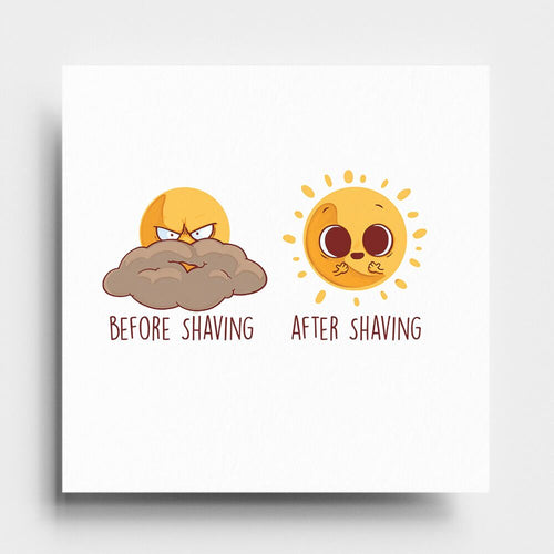 Before After Shaving - Art Print - Naolito