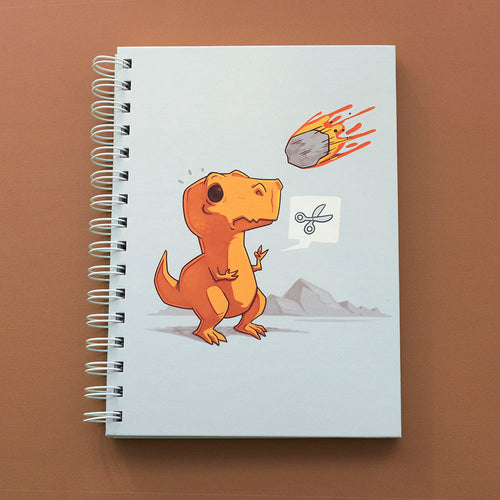 Asteroid Paper Scissors - Notebook - Naolito