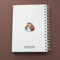 BEFORE AND AFTER COFFEE SLOTH - A5 Notebook - Naolito