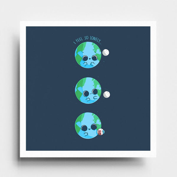 Lonely Planet - Art Print - Naolito