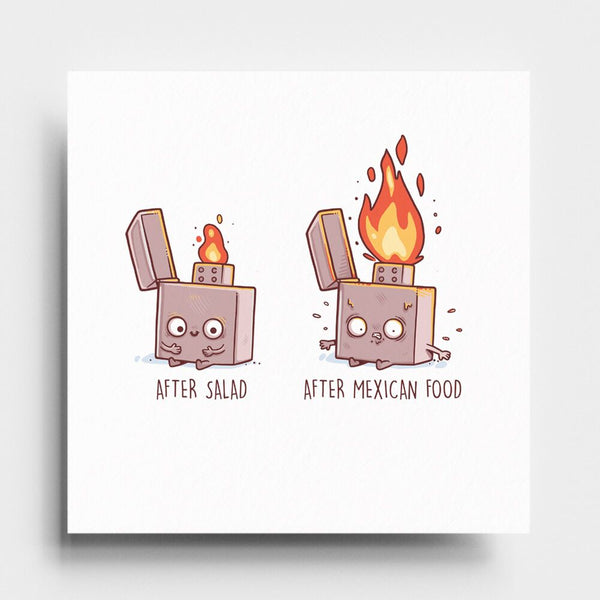Before After Mexican Food - Art Print - Naolito